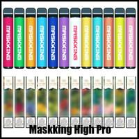 Maskking High Pro Einweg-Vape-Stift-Pod-Gerät Starter-Kit MK E-Zigarette 1000 Puffs Russland / Englisch Verion Air Bar Bang XXL Puff