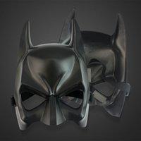 DHL frete grátis preto metade rosto batman máscaras de halloween mascarade festa máscara de rosto (um tamanho) apto para criança e adulto