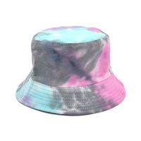 قوس قزح اللون الصياد قبعة واسعة بريم شاطئ uv حماية جولة أعلى قبعات واقية من الشمس الهيب هوب طوي دلو القبعات GWD5712