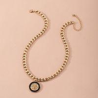 Coin Clavicule Chaîne Mode All-Match Lion Tête de lion Enamel Glaze Collier Femme Pour Femmes Party Bijoux Cadeau