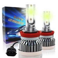 Car Headlights H8 H9  H11 LED Bulbs Super Bright 65W Conversion Kit Lemon Fog Lights Bulb For Auto Lamp Accessories