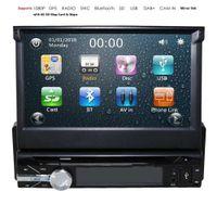 النسخ الاحتياطي كاميرا + GPS واحد 1 الدين سيارة الصوت راديو ستيريو HD مشغل دي في دي بلوتوث 8G SD خريطة بطاقة الوسائط المتعددة Automotivo SWC DAB +