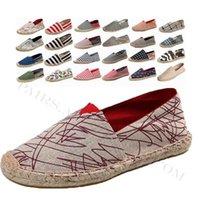 Keten Erkek Rahat Ayakkabılar Loafer'lar Erkek Yabani Rahat Düz Ayakkabı Dokuma Balıkçı Çocuk El Yapımı Daire Espadrilles Zarif Sürüş Ayakkabı