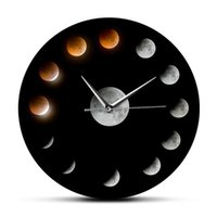 Outer Space Series Of Total R Eclipse Moon Wall Clocks De Pared Home Decoration Phases Super Celestial Watch