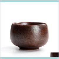 Kitchen, Dining Bar Home Gardenjapanese Ceramic Kiln Change Tea Mug Household Master Cup Handmade Y Retro Small Bowl Office Teacup Drinkware