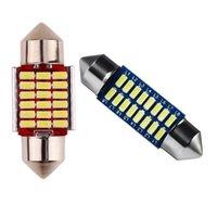 Car Headlights -6 Pcs C5W C10W Festoon Led Canbus Inteiror Bulb License Plate Light, 2 18SMD & 4 16Smd