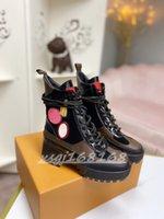 High-Heel Martin Laarzen Designer Dik-Soled Desert Bare Boot Love White Bee Star Trail Lace-up Herfst en Winter Dames Hoge hakschoen