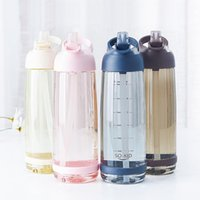 Water Bottles & Cages Outdoor Bottle With Straw Sports Leak Proof Eco-friendly Children School Lid Hiking Camping Plastic BPA Free