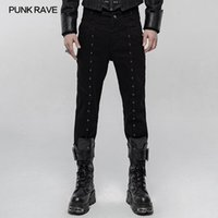 Men's Jeans PUNK RAVE Thickened Simple Woven Twill Handsome Trousers Rock Fashion Casual Autumn Winter Men Pants Denim