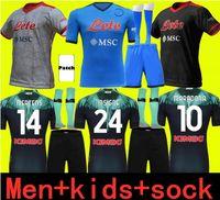 Yetişkinler ve Çocuklar 21 22 Napoli Futbol Forması Ev 2021 2122 Napoli Zielinski Maradona Insigne Mertens Callejon Player RPG Futbol Gömlek