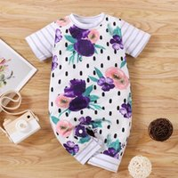 Clothing Sets Polka Dot Born Baby Girls Playsuit Short Sleeve Floral Printed Rompers Jumpsuit Summer Striped Clothes