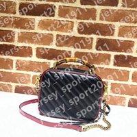 Designer Luxus Top Qualität Womans Handtaschen Frauen Gold Kette Strap Tote Umhängetaschen Kreuz Körper Weibliche Umhängetasche Geldbörse Schwarz Rot Öl Wachs Leder 443497 498110