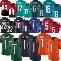 드래프트 16 Trevor Lawrence Football Jerseys 5 Trey Lance 1 Zach Wilson 1 Justin Fields 1 Jaylen Waddle Kyle Pitts 6 Devonta Smith 10 Mac Jones