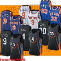 "Cidade RJ 9 Barrett Jersey Derrick 4 Rose Jerseys Julius 30 Randle Jersey Retrocesso Patrick 33 Ewing New York ""Knicks"" Jersey"