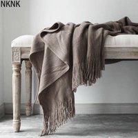 130cmx200cm Cashmere Blanket Super Soft Winter Bed Bedry Beding Calda Quilt Cotton Cotton Crochet Divano Cover Forniture Coperte