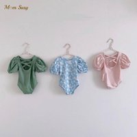 One-Pieces Born Summer Baby Girl Princess Swim Suit Puff Sleeve One Piece Infant Swimwear Bathing Kid Swimming Clothing 0-2Y