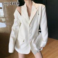 Белые пиджаки для женщин, зарезанные с длинным рукавом One One One Surger Beatwork на молнии High Street Coats Женская 2021 осень прилив