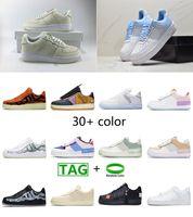 최고 품질 2021 강제 남성 낮은 스케이트 보드 스포츠 신발 한 덩크 AF1 Unisex 1 니트 유로 하이 여성 모든 흰색 검은 색 빨간 가죽 트레이너 디자이너 운동화 그림자