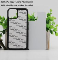 DHL Free Blank 2D Sublimation TPU PC phone Case for iPhone 12 11 Pro Max SE 8 8plus X xr xs max with Aluminum Inserts