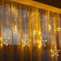LED luci natalizie 2,5 m luci fata luci stringa luce decorazione della ghirlanda lampada per la lampada per la casa di nozze AC110V o 220V Holiday Lighting Star Tenda