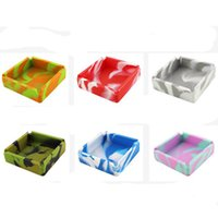 100MM silicone Tobacco Ashtray bag solid color camouflage colors can be customized vs rolling tray grinder