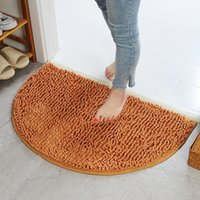 Soft Anti Slip Chenille Bathroom Carpet Super Absorbent Bath Rug Floor Door Mat Dirt Barrier Semi Circle Floors Doors Cushion Mats Rugs JY0808