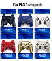 Wireless Bluetooth Gamepad Jualstick Controller Game Console Accessory USB مقبض Gamepads بدون شعار PS3 PC Dualshock 3 مع مربع التجزئة DHL
