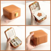 Portable Travel Jewelry Storage Boxes Organizer PU Leather Display Storages Case Necklace Earrings Ring Holder Gift Box 1866 V2