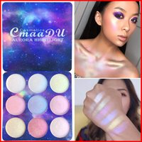 CMAADU 9 اللون تمييز الوجه ماكياج الظلال سطع غطاء كونتور العين التجميل عينيه لوحة