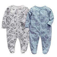 Wholesale 2 PCS lot born Baby Boys Girls Sleepers Pajamas Babies Jumpsuits Infant Long Sleeve 0 3 6 9 12 Months Clothes 211011