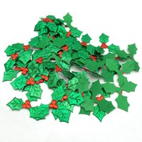 Christmas christmas Three leaves new red fruit crafts creative DIY handmade gift box decoration accessories