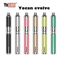 Otantik Yocan Evolve Kiti Balmumu Buharlaştırıcı Kuvars Çift Bobin Vape Pen E Sigara Kitleri ile Yedek QDC DAB 100% Gerçek