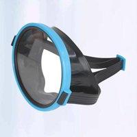 PC 다이빙 마스크 방수 유리 수영 고글 PE 프레임 수영 방지 안개 다이빙 (파란색) 마스크