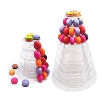 أدوات كعكة 6 مستويات معكرون برج المعكرون عرض موقف استحمام الطفل عيد ميلاد كعك تزيين اللوازم الزفاف الديكور شفافة
