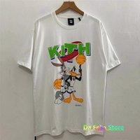 T-shirt de basquete branco 2021 homens mulheres desenhos animados esportes tema kith tops tee 1: 1 alta qualidade vintage manga curta vintage