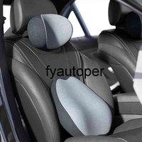 Car Cushion Back Pillow Set Memory Foam Car Headrest Car Lumbar Waist Head Restraint Cervical Neck Pillow Auto Accessories
