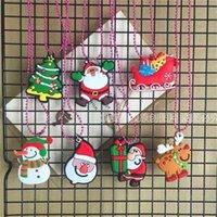 Natale santa elk mini catena chiave regali moda bella cartone animato regalo di plastica allegro xams portachiavi anello sacchetti Pandents per ragazzi e ragazze G80GSWW