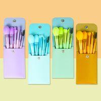 DHL shipping New makeup brushes 8pcs synthetic makalo hair travel make up brush tools kit makeup brush set