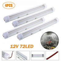 Car Interior Light Strip Bar 72 LED 6500K White Lamp With ON OFF Switch For Truck Caravan Boat Home Working