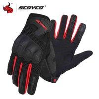 Scoyco motorfiets zomer ademend mesh moto full vinger motocross off-road racing mannen motor handschoenen