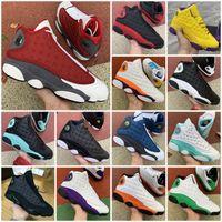 13S Jumpman 13 Flint Açık Ayakkabı Mens Bayan Şanslı Yeşil Soar Bahçesi Lakers Spor Sneakers Eğitmenler Boyutu EUR 47