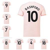 20-18 absence rose rétro manchester soccer jersey Alexis Pogba Rashford 18 19 United Adulte Homme Vintage Shirt Football Classic Uniforme UTD
