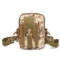 Universal Outdoor Tactical Holster Mille Molle Molle Cintura Bag Carteira Bolsa Caixa Phone Bolsa com Zipper Fanny Ombro Pack Bolso