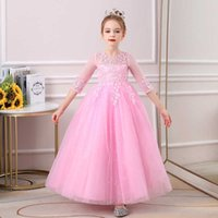 Girl's Dresses Summer Pomanhous Garza Princess Mostra prestazione 61 Abito design lungo per bambini