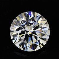 EF Renk Mozanit Yuvarlak Kesim Gevşek Elmas Kutusu ve Halkalar VS1 Gemstones için Sertifikası Mükemmel Geçiş Test Cihazı