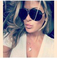 Óculos de Sol Aviação Grande Brand Design Sun Homens Moda Espelho Eyewear Oculo Somas Verão Para Mulheres Óculos Kim Kardashian Feminino Tfanw