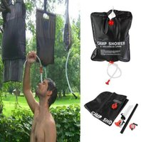 Wholesale 20L 5 Gallons Hydration Gear Camping Hiking Solar Heated Camp Showers Bags Shower Waters Bag Fishing Camps Picnic BBQ Hike Water Storage 6P PVC