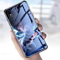 Chiamata Glow Light Case per iPhone 13 12 Pro XS Max Case Cute Glow Case Anime Call Comic Glowing Anti-Scratch Antiumine Antiumine Antibust Luminescente Custodia trasparente in entrata