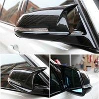BMW 1 2 3 4 X Serisi için Dikiz Yan Ayna Kapağı F20 F21 F22 F23 F30 F32 F36 X1 E84 F87 M2 Karbon Fiber Desen Aksesuarları