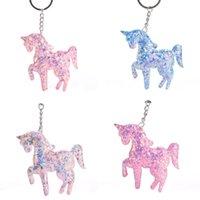 Unicornkey holder Fidget Toys Dimple Keychain Antistress reliever Key Decoration Car Backpack Pendant Surprise wholesale